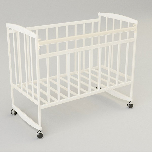 Кроватка детская VDK Magico mini Кр1-02м, колесо качалка по цене 3 400 руб. в интернет магазине Торговый дом Антошка Санкт-Петербурге