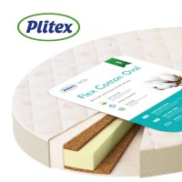 "Матрас Plitex ""Flex Cotton Oval"" 125х75"